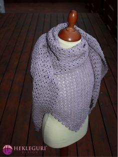 Petunia trekantsjal, pdf-hefte! - Hekleguri Design Drops Baby, Alpacas, Petunias, Pdf, Mini, Design, Fashion, Threading, Moda