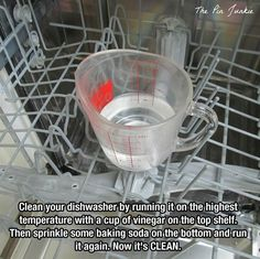 Many cool household cleaning tricks cool-cleaning-dishwasher-cup-vinegar