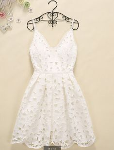 Hollow out vest harness render lace dress-white Source by dress outfits Party Dresses For Women, Dresses For Teens, Trendy Dresses, Sexy Dresses, Cute Dresses, Beautiful Dresses, Dress Outfits, Casual Dresses, Short Dresses