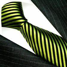 84447 US LORENZO CANA ITALIAN SILK BLACK GREEN TIE