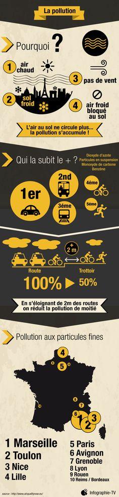 Infographie : La pollution dans les grandes villes de France
