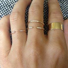 WHITE EQUILIBRIUM CUFF RING – JENNIE KWON DESIGNS