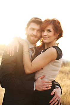#Boho #Chic couple on their wedding day photo shoot
