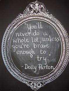 an inspirational quote from Dolly Parton