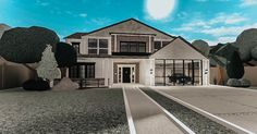 Two Story House Design, Unique House Design, Modern Family House, Family House Plans, Home Building Design, Building A House, House Plans With Pictures, Beautiful House Plans, Model House Plan