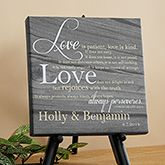 "Love Is Patient Personalized Canvas Print-12"" x 12"" - Romantic Gifts - Romantic Gifts"