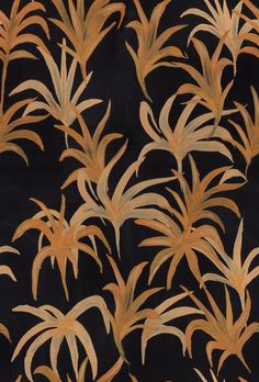 gold palm leaf pattern / gouache painting