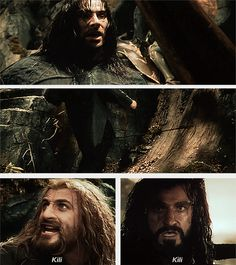 Friendly reminder that Thorin was reacting to Fili in that last gif. Thorin didn't see Kili get skewered because he was right under his nephew. He pulled that face because Fili screamed Kili's name with such anguish. And that, my darlings, is how you establish strong character connections in a split second of screen time.
