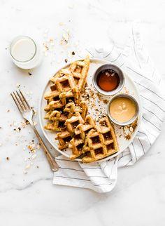 Flourless Peanut Butter Waffles