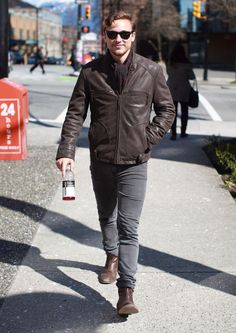 Actor William Moseley walking to the set of 'The Selection' on a sunny day in Vancouver, Canada on March 23, 2012.