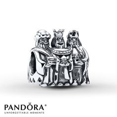 Pandora Charm Three Kings Sterling Silver/14K Gold
