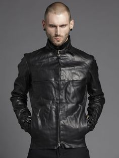 m.a+ | Cow Leather Biker Jacket with Buckles. Mmmmmm..... Ride your bike w me leather jacket.