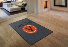 Salon V Custom Logo Rug