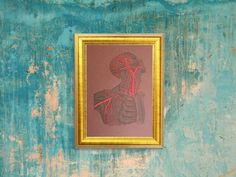 Anatomy Art. Embroidered Anatomy Home Decor. by FabulousCatPapers