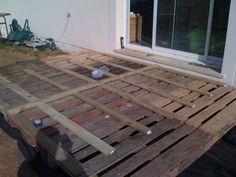 Deck wood pallets