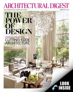 Architectural Digest - we made the cover this month!!