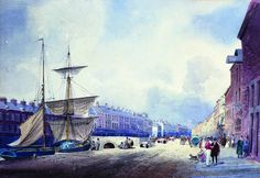 Belfast: High Street was the centre of the town until the 1900s but smaller ships moored here until it was culverted over. Even after this, ships could come right up into the town at the end of the street.