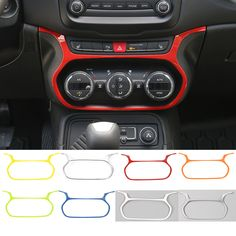 New Style 7 Colors ABS Car Air Conditioning Switch Decorative Car Moulding for Jeep Renegade 2015 up