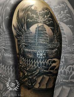 Blackgrey Surrealism Tattoo by: Prima #MaTattooBali #SurrealismTattoo #DragonTattoo #BaliTattooShop #BaliTattooParlor #BaliTattooStudio #BaliBestTattooArtist #BaliBestTattooShop #BestTattooArtist #BaliBestTattoo #BaliTattoo #BaliTattooArts #BaliBodyArts #BaliArts #BalineseArts #TattooinBali #TattooShop #TattooParlor #TattooInk #TattooMaster #InkMaster #AwardWinningArtist #Piercing #Tattoo #Tattoos #Tattooed #Tatts #TattooDesign #BaliTattooDesign #Ink #Inked #InkedGirl #Inkedmag #BestTattoo… Ma Tattoo, Piercing Tattoo, Tattoo Shop, Tattoo Studio, Tattoo Master, Ink Master, Tattoos For Guys, Cool Tattoos, Tattoo Ideas