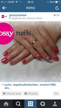 Glossy Nails mooie nagels gePimpterd!