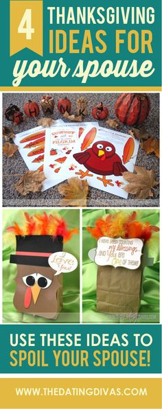 4 thanksgiving ideas for your spouse.  Make sure he feels extra special this holiday season!