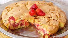 5-minútový jahodový koláč pre začiatočníkov!