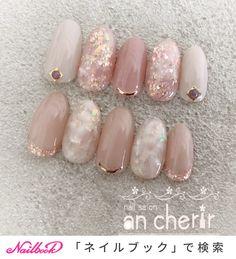 ネイル ネイル in 2020 Gel Nail Art Designs, Long Nail Designs, Cute Nail Designs, Japanese Nail Design, Japanese Nails, Glam Nails, Cute Nails, Lilac Nails Design, Nail Paint Shades