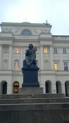 Statue of Copernicus in Warsaw.