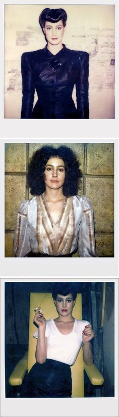 Sean Young polaroids from 'Blade Runner' (1982).