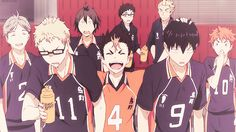 Noya-babe being hilarious with Tsukki and Kags. I love Suga and Hinata's faces.