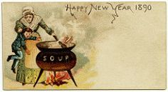 ifishipititsprobablygay plenilune vintagehandsomemen c 1890 postcard happy new year go into the soup i scrolled past this and like three posts