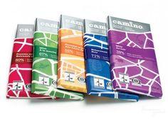 Коллекция дизайнов упаковок шоколада