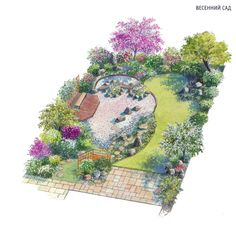 Ideas For How To Change Your Home's Landscape – Pool Landscape Ideas Back Gardens, Small Gardens, Outdoor Gardens, Landscape Design Plans, Garden Design Plans, Small Garden Plans, Garden Yard Ideas, Diy Garden Projects, Pocket Garden