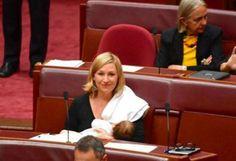 Pertama Kali, Senator Australia Ini Menyusui Bayi di Ruang Sidang