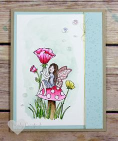 Fairy Celebration watercolor card #GDP040 Wendy Cranford www.luvinstampin.com