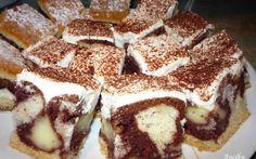 Pudingos-tejfölös kocka recept fotóval Sweet Cookies, Tiramisu, Oreo, Cheesecake, Muffin, Coffee, Cooking, Breakfast, Ethnic Recipes