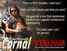 Carnal: The Beast Who Loved Me (Exiled, #1) by Victoria Danann - Teaser01