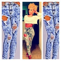 Sexy jeans as seen on Love and Hip Hop Stars Kaylin Garcia and Emily B