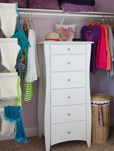 Stashing A Vertical Dresser In A Closet Is An Ingenious Way To Amp Up  Storage Capacity