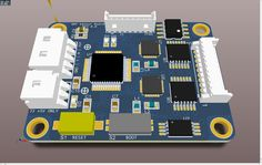 GRF Sensor Board Rendering using Altium Designer 10