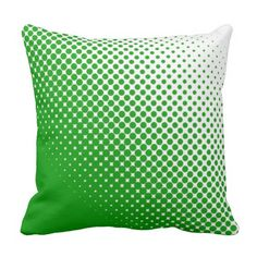 Blue and White Halftone Dots Outdoor Pillow Outdoor Throw Pillows, Decorative Throw Pillows, Dots, Blue And White, Green, Pink, Stitches, Accent Pillows, Pink Hair