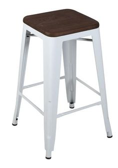buy low back tolix stool 76cm silver online at factory direct prices