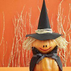 Jolie sorcière / Cute Witch Pumpkin