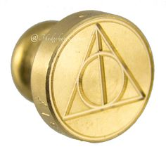 Harry Potter Scribbulus Interchangeable Deathly Hallows Brass Wax Seal NEW