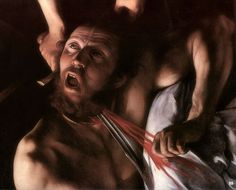 hadrian6: Detail: Judith Beheading Holofernes. 1598. Caravaggio. Italian 1571-1610. oil/canvas. Galleria Nazionale dell'Arte Antica. Rome. http://hadrian6.tumblr.com