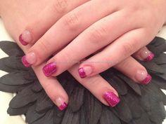 Acrylic nails with fairy godmother polish