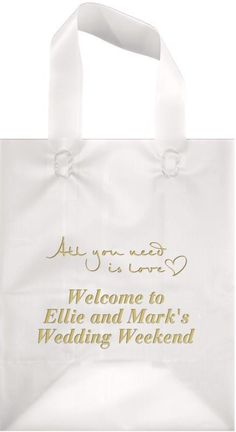 955113b0f59 8 x 10 Frosted Poly Gift Bags (Set of 25). My Wedding Reception Ideas