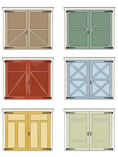 DOMESTIC TRANQUILITY: carriage style doors