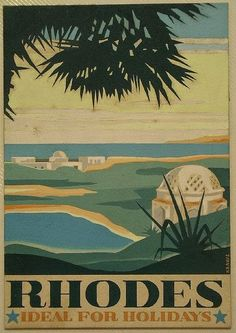 1930 ~ RHODES. IDEAL FOR HOLIDAYS.