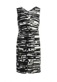 Элегантное платье от BCBGMAXAZRIA украсит собой женский гардероб. Модель выполнена из высококачественного эластичного материала. Легкая ткань приятна к телу. Особенности: приталенный крой, эластичная резинка на спинке, глубокое декольте, драпированный вшитый пояс, контрастный абстрактный принт. http://j.mp/1ohh0Ph
